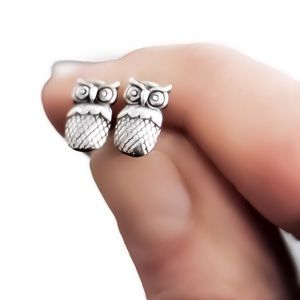 🦉925SS Owl Studs